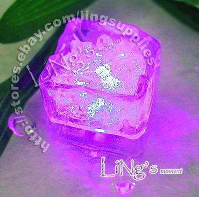 Hot Item-Lowest price-PINK LED Ice Cube Light Wedding Party Christmas Decoration