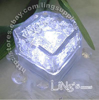 Wholesale Christmas Decorations Wholesale Prices - Lowest price-free shipping-12pcs White LED Ice Cube Light Wedding Party Christmas Decoration