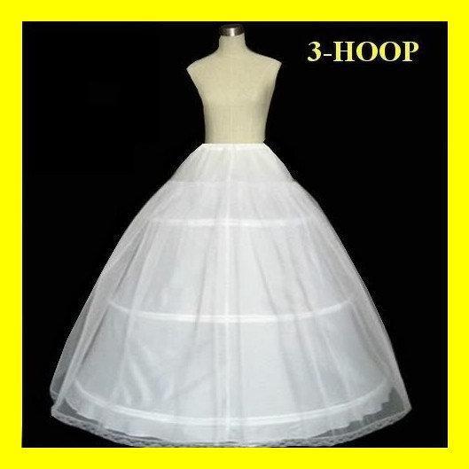 Petticoat 3 aros para vestidos de bola nupcial A-Line Vestidos de novia Petticoats Accesorios nupciales
