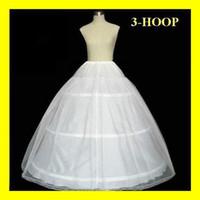 ingrosso più calde abiti da sposa-HOT Free Shipping Stock Petticoat 3 Hoops per abiti da ballo da sposa A-Line Abiti da sposa Sottogonne Accessori da sposa