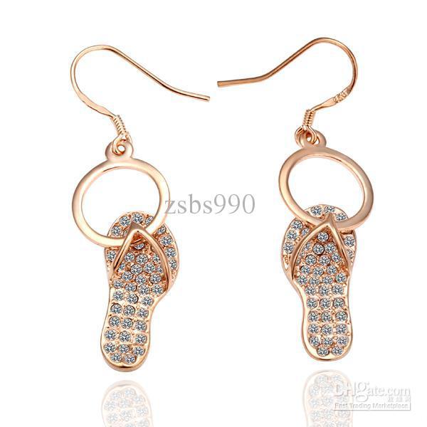 Hot new European fashion earrings in 18K rose gold earrings 10pair/lot