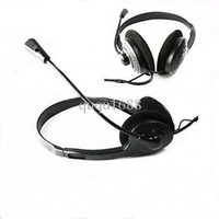 Wholesale Msn Headset - #1215 Selling by 50pcs lot Headset Headphone Microphone PC Computer For MSN Skype