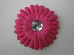 "Wholesale 12 Hair Flowers - 12 Colors 4"" Gerbera Daisy Children's Hair Accessories baby Girls Flower Clip(5lot-=60pcs)"