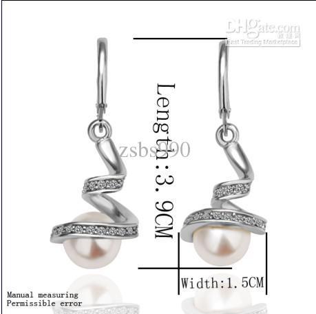 아름다운 진주 귀걸이 진주 귀걸이 패션 쥬얼리 E012