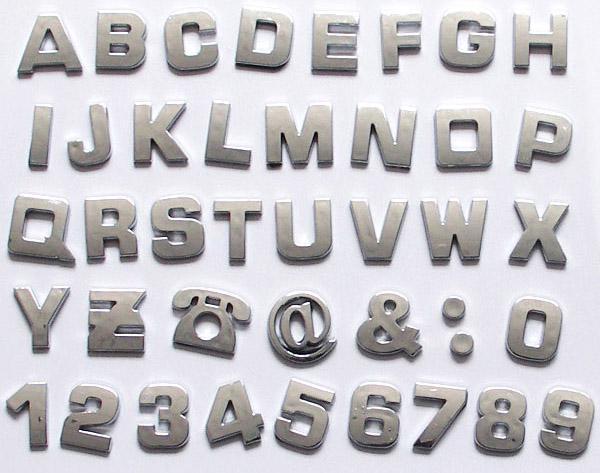 Cheap car decals 3d letters digital sticker bumper for Cheap vehicle lettering