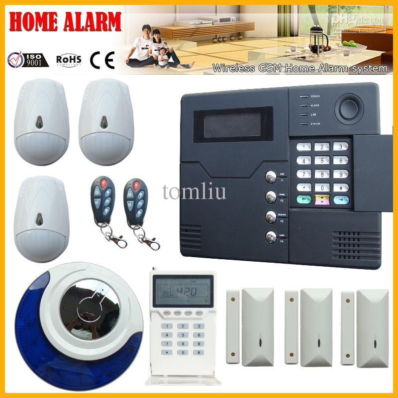 wireless wired gsm home security alarm system alarm control panel and wireless accessories best. Black Bedroom Furniture Sets. Home Design Ideas