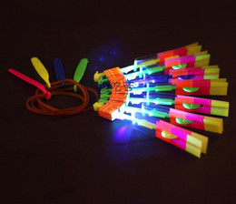 new helicopter Australia - LED flier flyer amazing arrow helicopter light up flying toys umbrella LED Kids Chidren adult