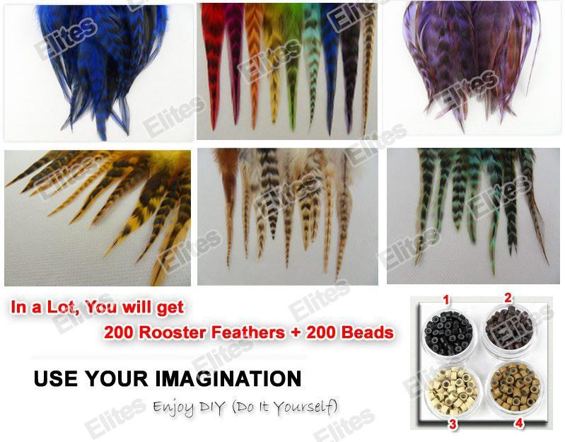 Queen hair 5 7 inch grizzly rooster feather hair extension feathers queen hair 5 7 inch grizzly rooster feather hair extension feathers extensions 200 beads srf003 wholesale feather suppliers peacock feathers wholesale solutioingenieria Choice Image