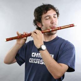 Musica flautica cinese online-Dizi Bamboo Flauto in chiave cinese D Music 61cm / 1 PCS