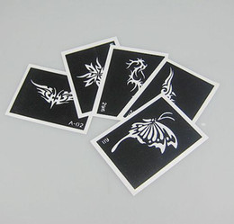 Temporary tattoos Stencil Paper 100 pcs lot Tattoo Template Tattoo Stencils For Body Art Painting Tattoo Pictures Waterproof Mix