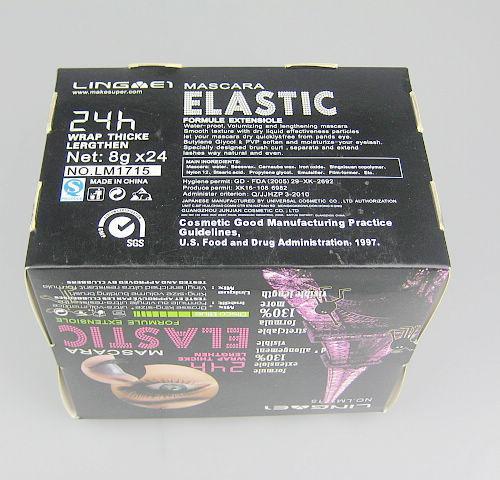 130% de longévité mascara 3in1 extra long durable volume noir épais mascara 8g * / boîte LM1715