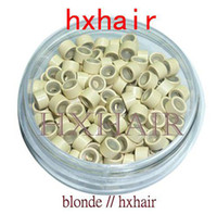 Wholesale Aluminium Beads - 10000pcs 5.0mm With Silicone Micro Aluminium Rings Beads   Black D-Brown Brown L-Brown D-Blond Blond