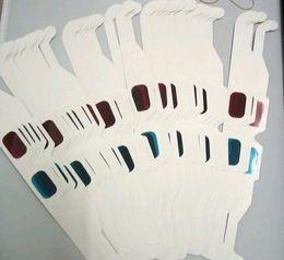 Free Ship 600 Pieces Высококачественная размерная бумага 3D-очки 3D-очки - красный и синий анаглиф от