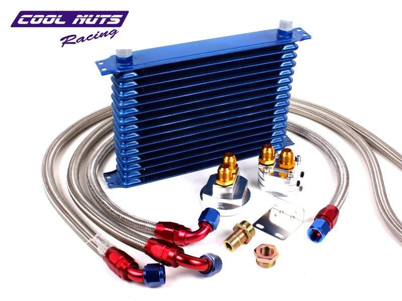 Engine Oil Cooler Works : Row engine oil cooler kit honda accord prelude h