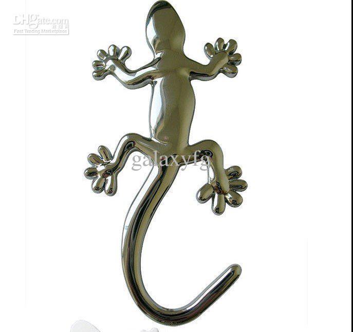 Бесплатная доставка по fedex кузова автомобиля сообщение 3D стикер Серебряный геккон виниловые наклейки, небольшой Анима Лауто этикетки
