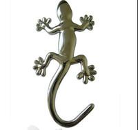 etiquetas do corpo do carro venda por atacado-Frete grátis por fedex Car Body Post 3D etiqueta de prata adesivos de vinil gecko, pequeno anima lauto label