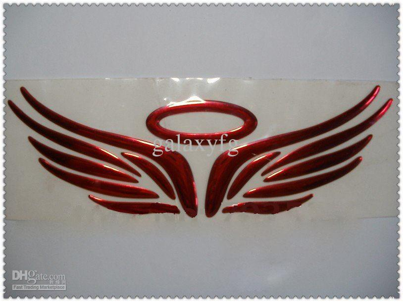 by fedex 3D stickers Silver angel wing adhesive vinyl stickers small flying car label