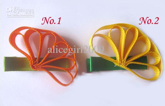 "wholesale-baby girl grosgrain ribbon bows hair bows cute 2"" hair clips Character bows"