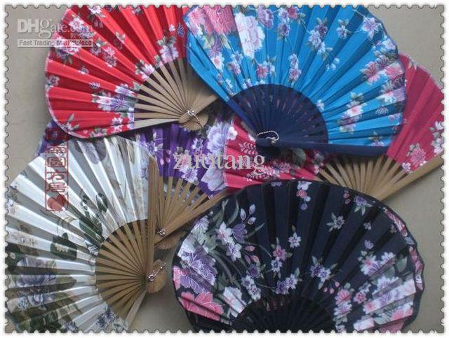 Portable Fancy Folding Silk Cloth Hand Fan Crafts Gifts Adult Japanese style Dance Fans