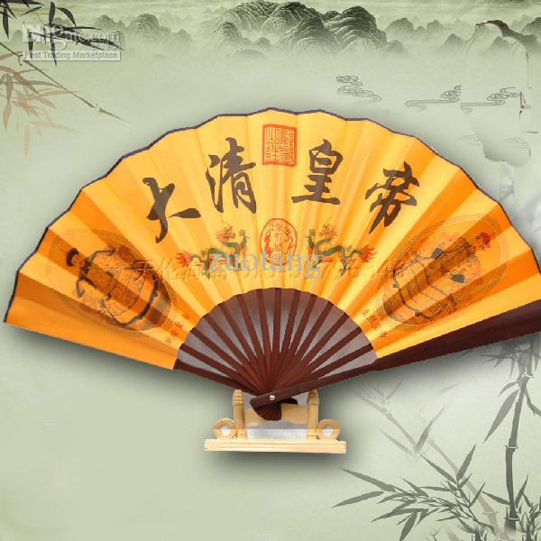 2018 History Of Chinese Fans For Sale Silk Size 23 X 13