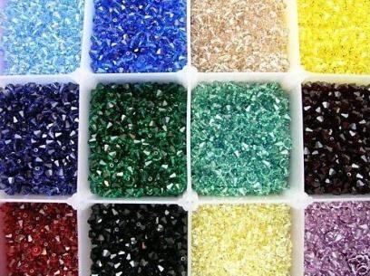 Il trasporto libero 100 pz / lotto Swarovski Crystal 6mm Bicone Beads / Fashion Beads / Gioielli / Vendita calda /