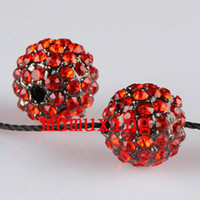 10MM / 12MM Crystal Crystal Disco Balls, Gun Metal noir plaqué perle strass Loose Beads 30PCS