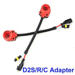 Wholesale Headlight Connector - 50PCS HID HEADLIGHT D2 D2S D2R D2C CONNECTORS WIRING HARNESS BULB ADAPTERS HID SOCKETS GOOD QUALITY
