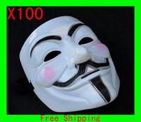 Wholesale Volto Masks Dance - Wholesale - - Resin V for Vendetta Mask Halloween Mask cosplay party dance dress gift G
