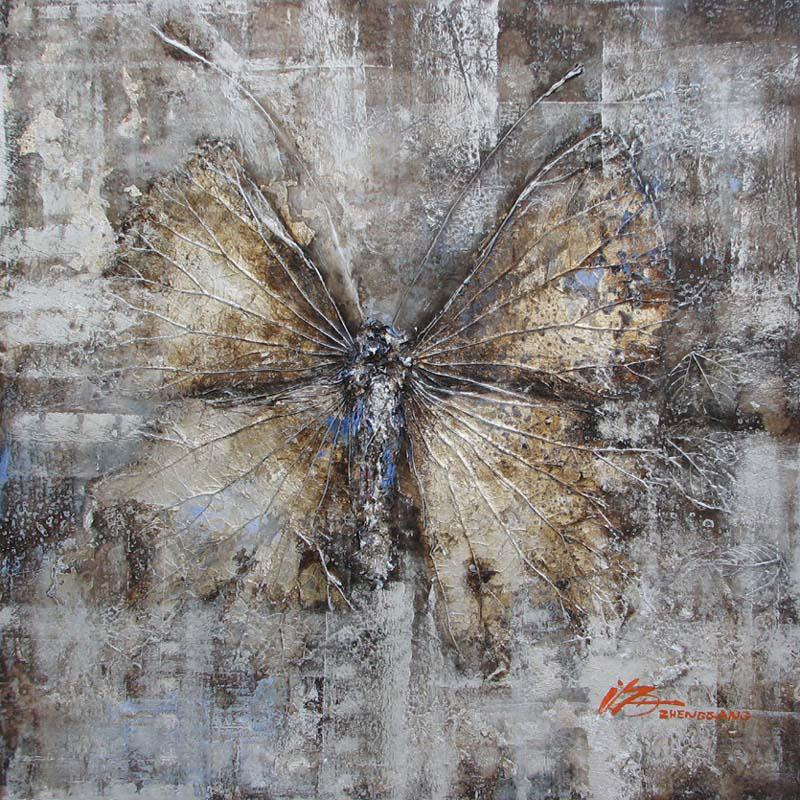 See larger image & Huge Butterfly Paintings Textured Wall Art Black And White Canvas ...