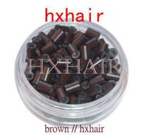 pontas de cabelo loiro loiro venda por atacado-1000 pcs 4.5mm Com Silicone Tubo De Cobre / Micro Anéis Ligações Contas / I-Ponta Ferramentas de Extensão Do Cabelo