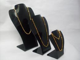 Wholesale Acrylic Necklace Organizer - Wholesale Black Acrylic Necklace Pendant Earrings Jewelry Set Display Organizer Stand Holder