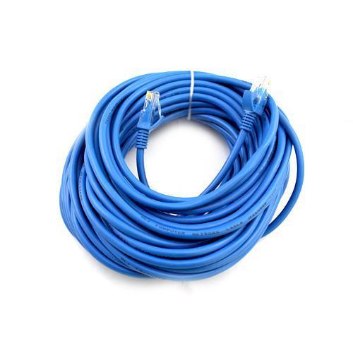 50ft Patch Cable Cat5e Network Ethernet Lan Cable Cat5 5e Blue Ship