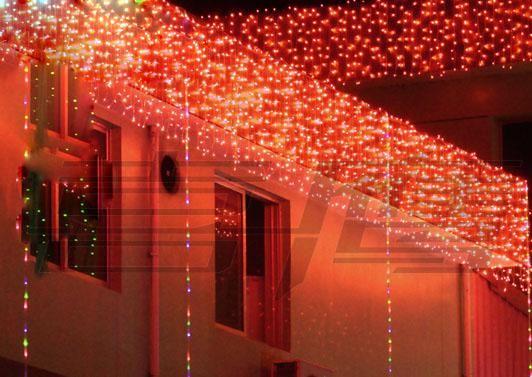 192 lampadine a LED 8m * 0,55 ~ 0,65m Luci tende, lampada bar di Natale, luci ghiaccioli di fata weddind a led Strisce di illuminazione a strisce impermeabili a LED