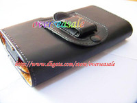 Wholesale Galaxy S2 Ii Cases - Holster belt clips Smooth leather pouch pouches case for Samsung Galaxy I9100 S2 S II 2 SII 50PCS
