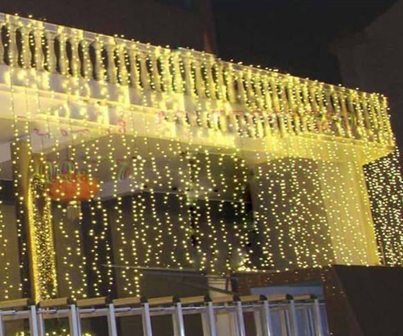 Curtains Ideas curtain lighting : 10*3m Led Curtain Light Christmas Ornament Flash Colored Fairy ...