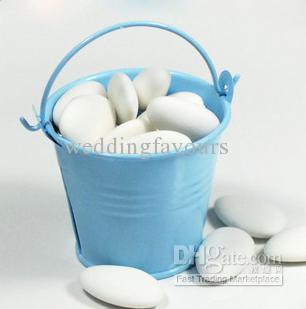 무료 배송 아주 귀여운 미니 양철 Pails 결혼식 호의, 베이비 샤워, 미니 통, 주석 사탕 상자, 선물 패키지,