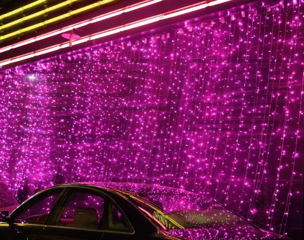 800 LED Lichter 8m * 3m Vorhang Lichter, Weihnachtszierde Licht, Flash Hochzeit Farbiges Licht, Lichterketten Wasserdichte LED-Lichtleiste Beleuchtung