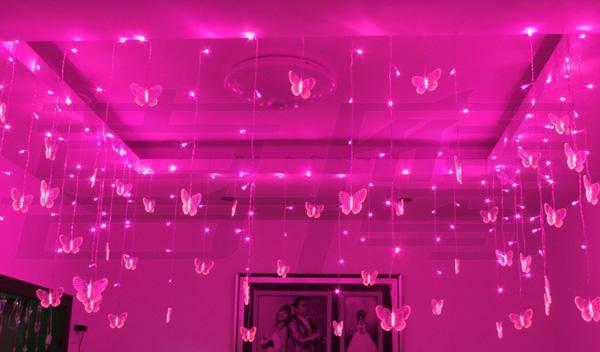 192 luci a LED 8m * 0.75m Goccia a soffitto luci ornamenti, negozi decorazione finestra ornamento natalizio luci impermeabili a led flow illuminazione
