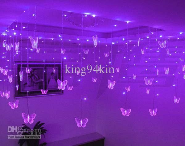 192 светодиодные фонари 8 м*0.75 м падение потолок орнамент огни, магазин украшения окна рождественские украшения огни водонепроницаемый светодиодные полосы освещения