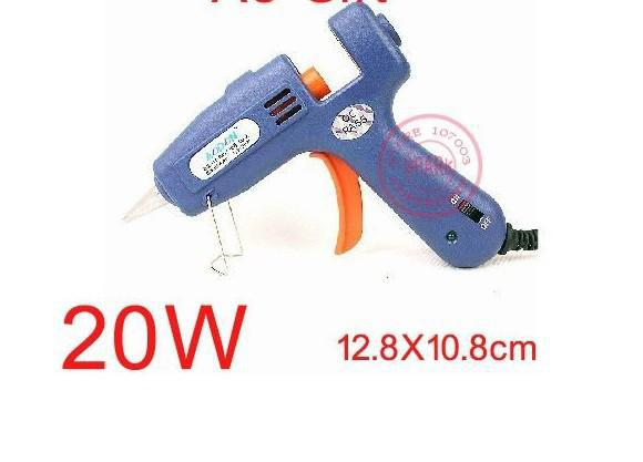 2pcs 20W Hot Melt Colle Pistolet De Chauffage Artisanat Réparation D'album (100 ~ 240 V US Plug