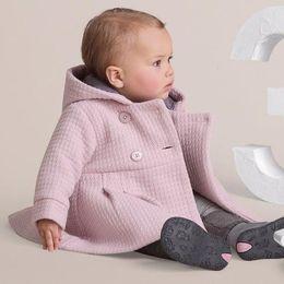 Wholesale Wholesale Flannel Jackets - baby coats girls' overcoat girl's jacket kids' hoodies Christmas coats Loose coat 2 colors TZ03