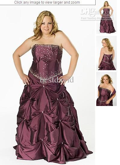 Amethyst Ball Gown Plus Size Corset Strapless 2012 Prom Dress