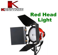 Wholesale Continuous Photo Lighting - Photo Video Studio Continuous Lighting Red Head Light Lamp 800w With Bulb Adjustable Lighting Focus