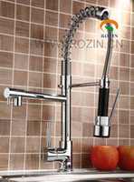 Wholesale design chrome - stunning Europe design pull out spray kitchen faucet LX-2207, wholesale, retail packing