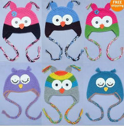 Wholesale New Crochet Baby Owl Hat - Lovely Cute Gorgeous Baby Toddler Girl Boy Color Owl Hat   Beanie   Cap New Gift