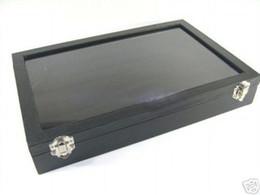 $enCountryForm.capitalKeyWord Canada - BLACK GLASS TOP RING DISPLAY CASE BOX TRAY SHOWCASE 1PCS