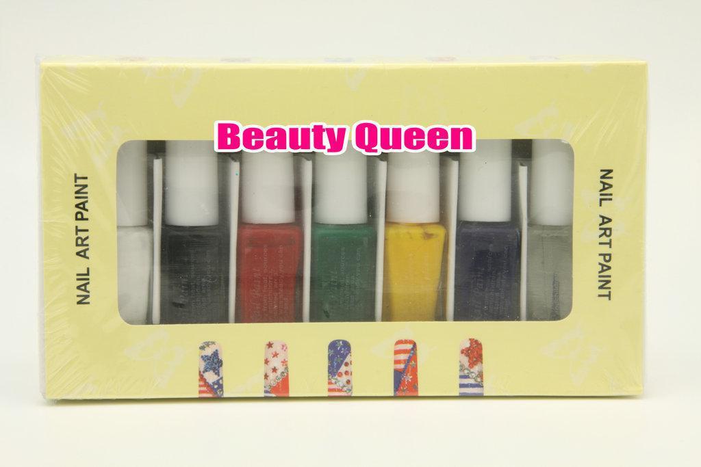 7 kleuren Stamping Special Poolse Nail Art Stempel Vernis Verf Schilderen voor afbeelding plaat Metalen sjabloon