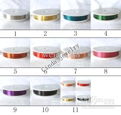10RollsMix Color Jewelry Findings Components Copper Cord Wire For DIY Craft Fashion Gift WI02