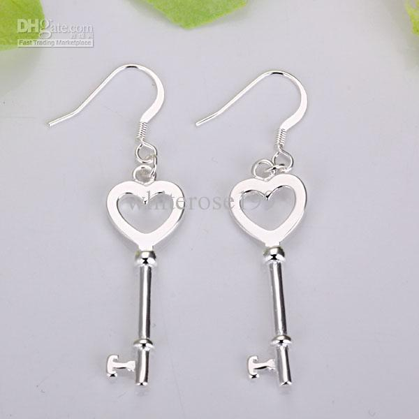 Wholesale - lowest price Christmas gift 925 Sterling Silver Fashion Earrings E135