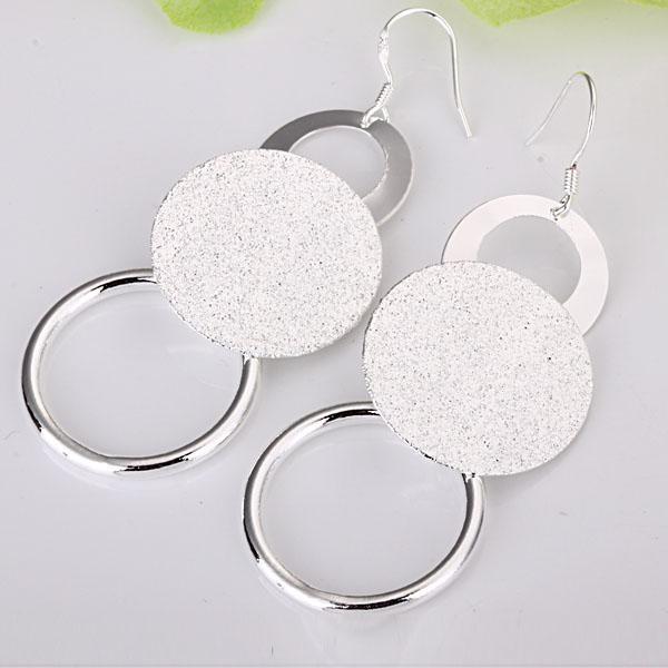 Großhandel - niedrigster Preis Weihnachtsgeschenk 925 Sterling Silber Mode Ohrringe E12